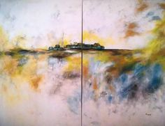The Journey Home  Diptyc. Acrylic on 1.5 inch Gallery Wrapped Canvas. Dimensions: 2 ft x 4 ft each piece.