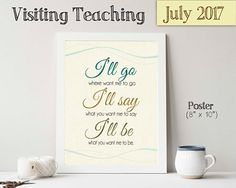July 2017 Visiting Teaching Message Relief Society Printable