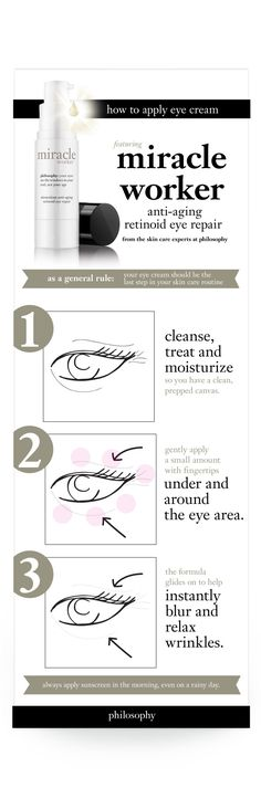 de-age your eyes in one week #philosophy #beauty #howto #eyes