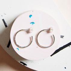 KIND Collection - Silver Hidden Orbit Hoop Earrings, Large.