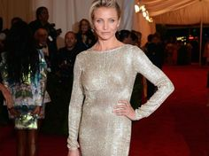 Cameron Diaz showed up at the 2012 Met Ball in a GOTS-certified silk dress by Stella McCartney for Livia Firth's Green Carpet Challenge. http://is.gd/Suh7aG