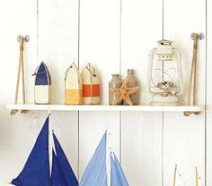 I love this shelf! Could we make this?? Ocean theme Swing Shelf | Pottery Barn Kids
