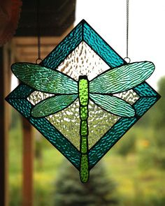 simple dragonfly stained glass pattern by Suzette Teich Donnelly