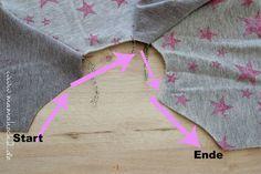 Nähanleitung schnelle Knopfleiste im Bündchen am Raglanshirt pfeile(6)