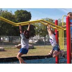 FREESTANDING WAVY STRAIGHT RUN. This traditional horizontal ladder provides great play-on-power! The horizontal ladder no playground should be without. From DunRite Playgrounds http://www.dunriteplaygrounds.com/store