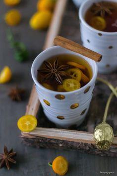 Cidre chaud aux épices & aux agrumes.