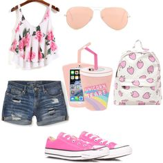 Featuring fashion style Aéropostale Converse Ray-Ban Skinnydip