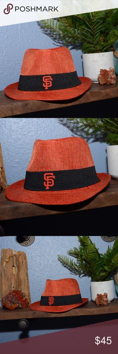 SF Giants Fedora Lovely woven San Francisco Giants baseball fedora. Root for the home team with a trendy new hat! Fits OS. Accessories Hats