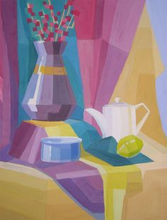 Cubist 9 by thomas c fedro from contemporary cubism art gallery - Erotic Cubism Still Life Art Paintings Paintings