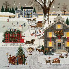 """Cape Cod Christmas"" by Charles Wysocki"
