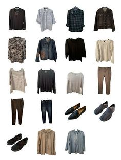 """Here's my first stab at mix and match outfits for the trip. The app migrates the pieces of clothing into a """"packing list"""" for you--easy peasy. Note: I'm certainly not a style or clothing obsessed person, but after losing a lot of weight and buying new clothes--the app gives me a lot of fun putting together """"looks"""" and will show me what I wear a lot and what I'm not touching. Stylebook App, What I Wore, What To Wear, Closet App, Show Me What, Minimal Wardrobe, Best Photographers, Mix N Match, Piece Of Clothing"""