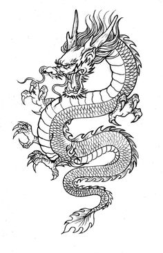 19 clichés about Chinese dragon tattoos that are not always true . - 19 clichés about Chinese dragon tattoos that are not always true … – 19 Clichés About Chines - Dragon Tattoo Leg, Dragon Tattoo Drawing, Tribal Dragon Tattoos, Dragons Tattoo, Dragon Tattoo For Women, Japanese Dragon Tattoos, Dragon Tattoo Designs, Chinese Tattoos, Chinese Dragon Drawing