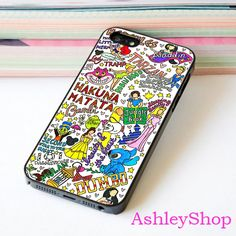 Disney Collage Art Collage Case For iPhone 4/4s/5s/5c/6/6+/S3/S4/S5/S6 - Default iPhone 5/5s Case