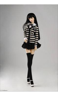 Model F - Jounnal Dress Set (Stra Black)