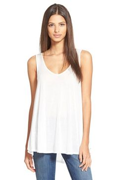 Free shipping and returns on Stem Strappy Tank at Nordstrom.com. A strappy detail in back adds edge to a lightweight tank styled with a cool, floaty silhouette.
