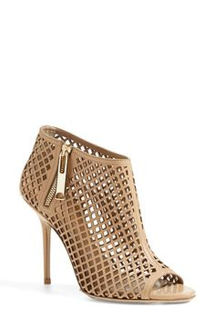 Burberry 'Barmby' Cutout Open Toe Bootie (Women) available at #Nordstrom