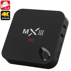 MX3 4K Android TV Box - Quad Core Amlogic S802 CPU Mali 450 Octa Core GPU 2GB RAM Dual Wi-Fi  XMBC OTG