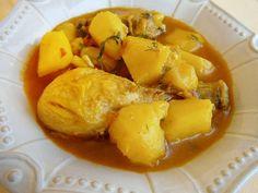 Azafrán de hebra: Guisado de pollo y patatas