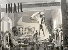 Stand Inail: Uno stand Inail di tanti anni fa.