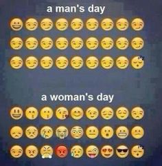 Man's day vs. Woman's day hahaha accurate :))) lmfao