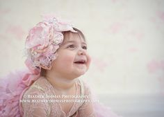 Handmade Pink Flower Headband, Easter Baby Headband, Infant Headband, Photography Prop, Headband, Spring