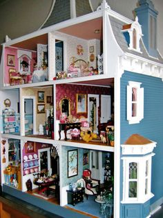 Victorian Dollhouses | In the next coming posts I will show you the interior plus some of the ...
