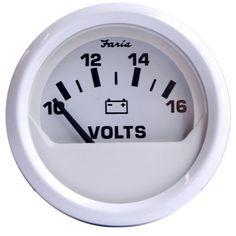 10-16 vDC Faria Professional Red Voltmeter