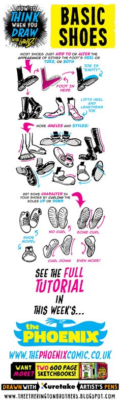 The Etherington Brothers: How to THINK when you draw SHOES tutorial taster