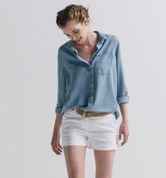 Chemise en jean chambray Femme