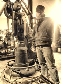 Me and my Beaudry Champion Blacksmith Power Hammer, Blacksmithing Ideas, Power Tools, The Dreamers, Champion, Industrial, Inspirational, History, Top