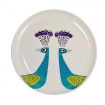 Peacock Side Plate 1 Hannah Turner