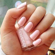 Essie Fiji.  Perfect pink. Love Nails, How To Do Nails, Pretty Nails, My Nails, Essie Nail Polish, Nail Polish Colors, Light Pink Nail Polish, Color Nails, Light Colored Nails