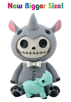 Buster the Rhino Furry Bones Skellies Medium Figurine [8277S] - $13.99 : Mystic Crypt, the most unique, hard to find items at ghoulishly great prices!
