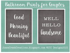 Free Bathroom Printables  [10 to choose from] check them out at JonesCreekCreations.blogspot.com