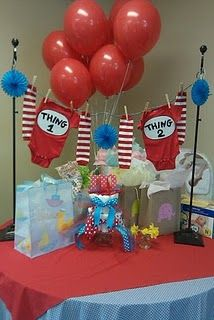 thing 1 & thing 2 baby shower- would be SUPER cute to do for twins :-)
