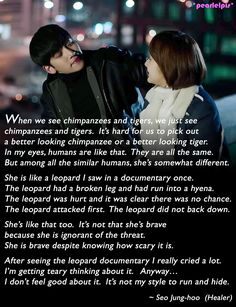 Healer quotes: Ji Chang Wook as Seo Jung Hoo; Park Min Young as Chae Young Shin (ep5) Healer Korean, Healer Kdrama, Fate Quotes, Ji Chang Wook Healer, Korean Drama Quotes, Drama Funny, Drama Fever, Kdrama Memes, Park Min Young