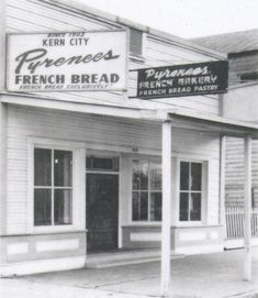 The original Pyrenees Bakery building, it was donated to Kern County Museum in Bakersfield, California on May remember my folks getting bread there. Tehachapi California, Bakersfield California, Kern County California, California Love, Tiger Tattoo Images, Tattoo Background, Abandoned Places, Cool Photos, City