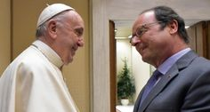 Papa Francesco incontra il presidente francese Francois Hollande