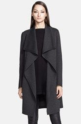 Donna Karan Collection Bonded Jersey Coat