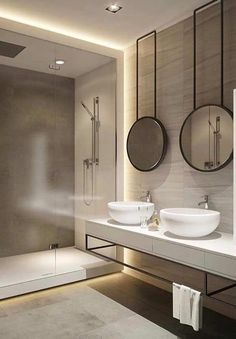 Luxury Bathroom Master Baths Dreams is unquestionably important for your home. Whether you pick the Luxury Bathroom Ideas or Luxury Bathroom Ideas, you will create the best Interior Design Ideas Bathroom for your own life. Bathroom Lighting Design, Modern Bathroom Design, Bathroom Interior Design, Interior Lighting Design, Interior Ideas, Modern Design, Pinterest Bathroom, Toilette Design, Mirror Cabinets