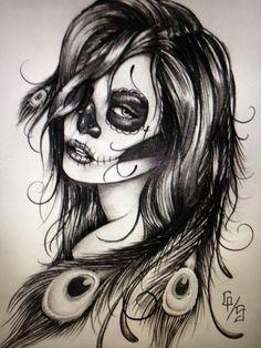 Sugar skull. Future tattoo. Maybe for my half sleeve