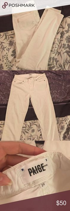 PAIGE skyline skinny Re-posh! Only selling because they didn't fit right. Great pair of white jeans for the summer! Paige Jeans Jeans Skinny