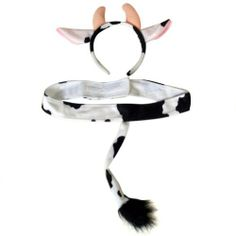 Plush Cow Headband Ears and Tail Costume Set by Making Believe. $9.99. Soft plush cow headband ears and tail set. One size, child. Imported.