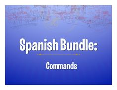 All my resources on Spanish formal and informal commands in one large zip file!   Everything you need for a whole unit - from notes to games to homework to assessments!These activities review t, usted, ustedes, and nosotros commands in each activity.  If you want a bargain rate on all of my resources rather than buying them individually, this is for you!