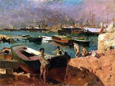 https://flic.kr/p/ek45wg | Sorolla y Bastida, Joaquin (1863-1923) - 1910 Valencia | Oil on canvas.   Joaquín Sorolla y Bastida was a Spanish painter, born in Valencia, who excelled in the painting of portraits, landscapes, and monumental works of social and historical themes. His most typical works are characterized by a dexterous representation of the people and landscape under the sunlight of his native land.  Sorolla's work is represented in museums throughout Spain, Europe, and America…