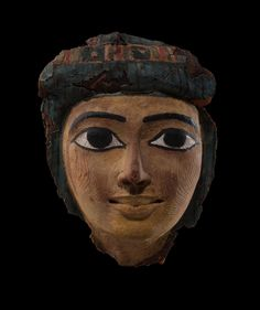 "amare-habeo: ""  Painted wood and linnen with painted stucco Egypt, New Kingdom, 1570-1085 B.C. """