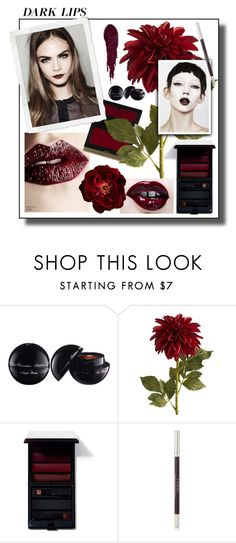 """""""Deep Red"""" by hellodollface ❤ liked on Polyvore featuring beauty, Agent Provocateur, Pier 1 Imports, BYRON, SkinCare, Serge Lutens, By Terry, NARS Cosmetics, lip and statementlip"""