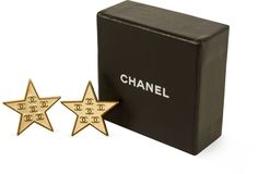 One Kings Lane - Jenn Ripley, Archive Agency - Chanel Gold & Enamel Star Earrings $499.00