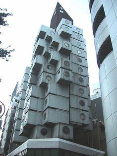 Capsule Tower - Kisho Kurokawa - Japon -  Immeuble a usage résidentiel et de bureaux, représentatif du mouvement métaboliste