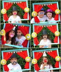 kid photo booth ideas - have a foam board frame with dress up clothes handy:)